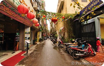 Backpacker Lane in Hanoi