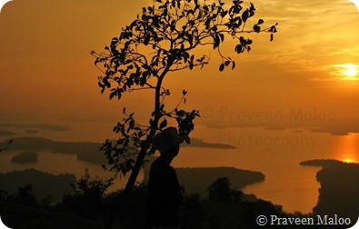 Panaromic View of the Backwaters at Dusk