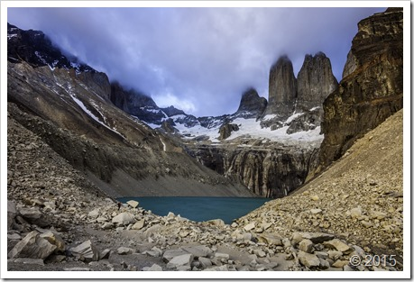 The mighty Torres del Paine standing tall