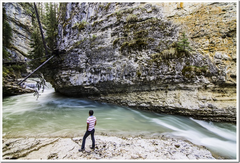 A self-portrait - Johnston Canyon, Banff National Park, Canada