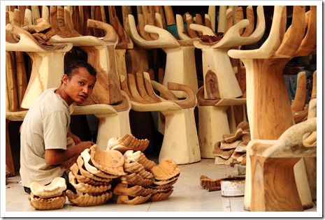 A wood carver in Petulu, Bali