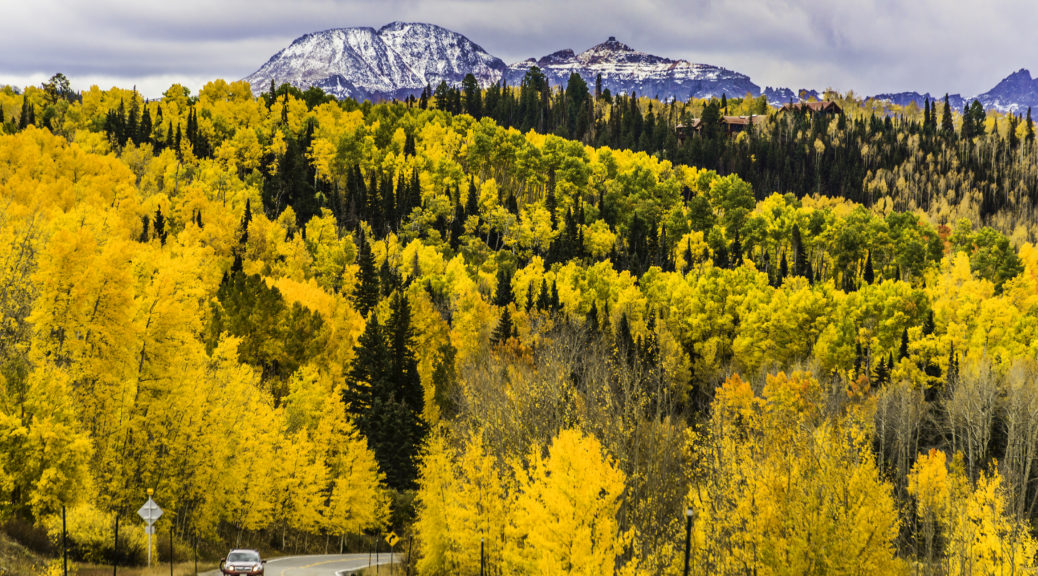 Stunning fall colors along the San Juan Skyway, Colorado