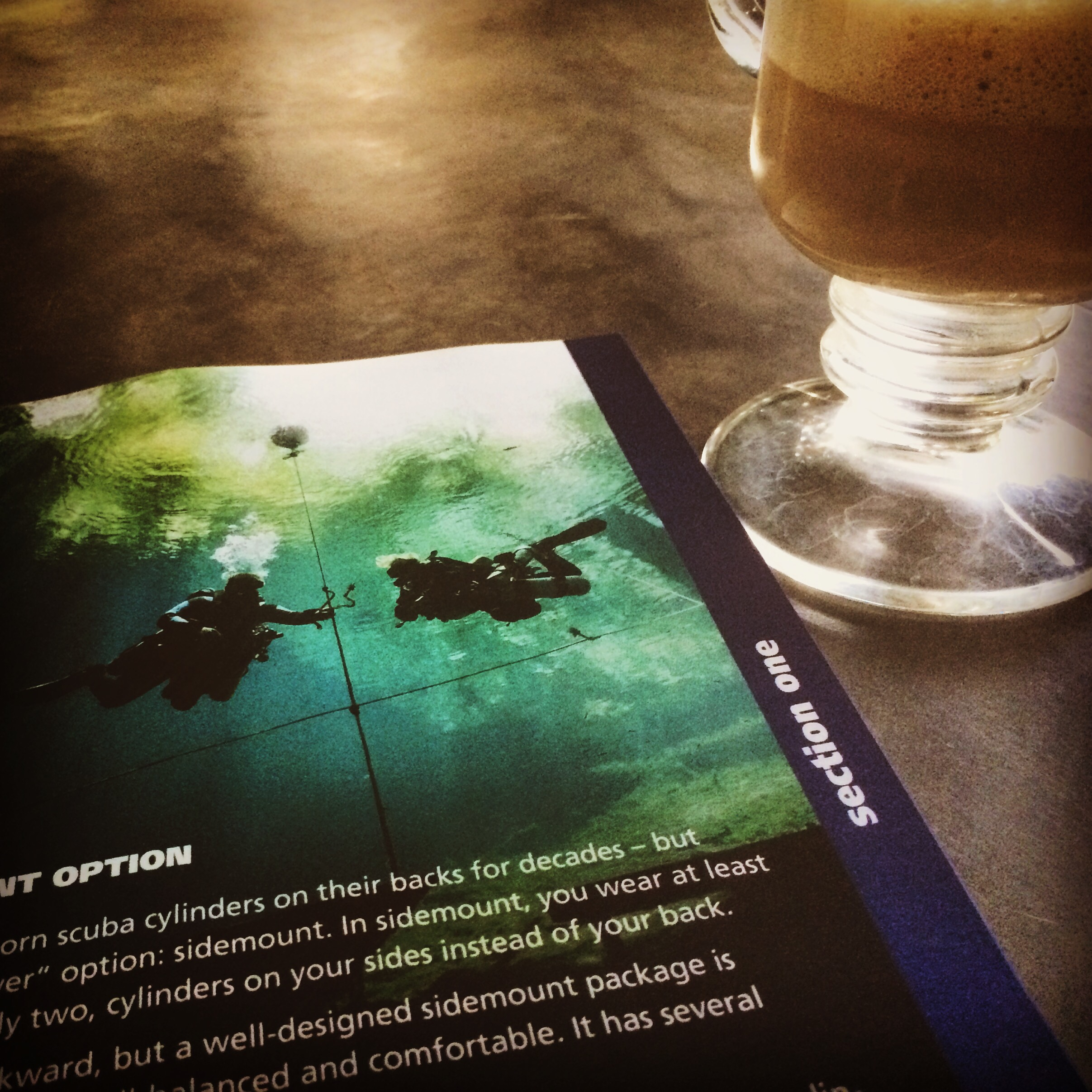 Reading about side-mounting with an obligatory latte